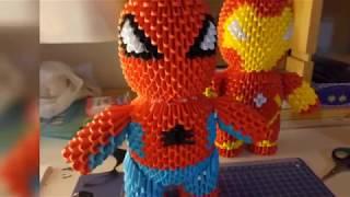 #32/19 Origami 3d - tutorial fotografico - Spider Man 2/2