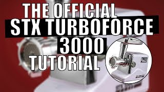 STX International Turboforce 3000 Electric Meat Grinder Assembly, Usage and Care