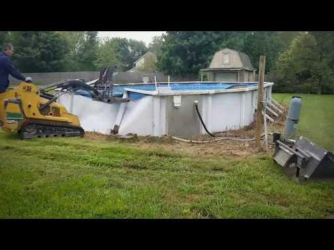 Pools are fun to swim and cool off but even more fun to demolish!