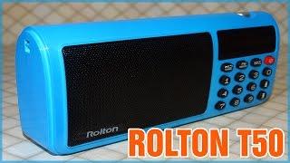 Распаковка и обзор бюджетной колонки Rolton T50 с поддержкой MW, SW, FM диапазонов радио