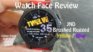 Samsung Watch Face Review : JND Brushed Rugged  Galaxy Watch Gear S3 Gear Sport