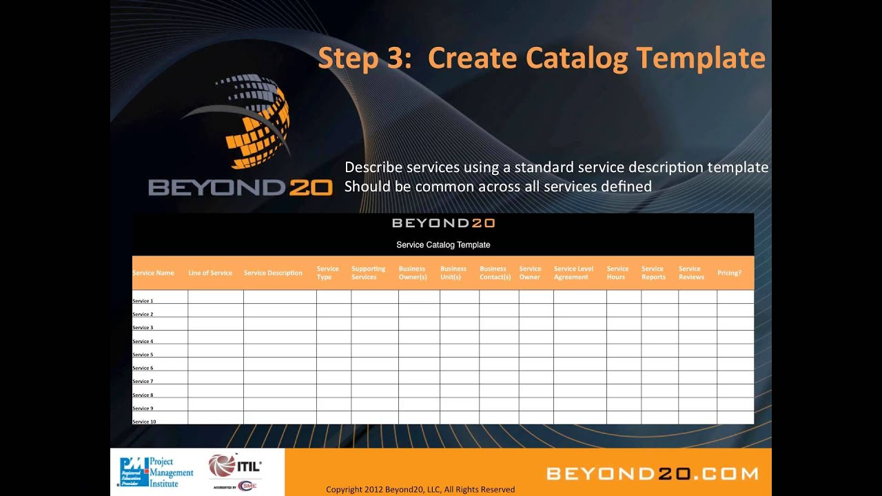 services catalog template
