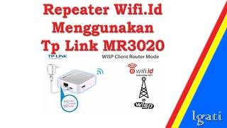 Repeater Wifi.Id Menggunakan Tp Link - MR3020