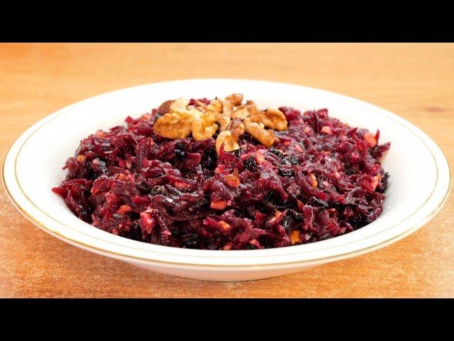 Свекольный салат с черносливом и орехами для похудения / Beet salad with dried plums and walnuts