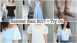 SUMMER HAUL 2017 + TRY ON! Zara, H&M, Nordstrom, Target | Mariana Badra