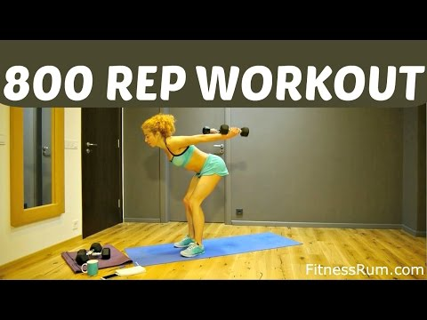 RU69-800 Reps Endurance Challenge Total Body Workout With Advanced Level Exercises