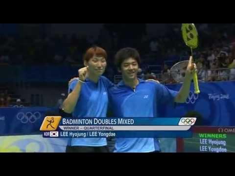 Beijing 2008 Olympics - XDQF - Lee Yong Dae / Lee Hyo Jung vs Gail Emms / Nathan Robertson