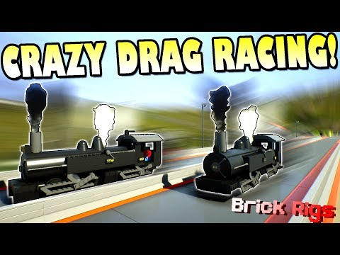 LEGO TRAIN DRAG RACE and MORE with BOB and BOB! - Brick Rigs Multiplayer Gameplay Ep29