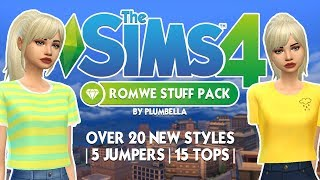 THE SIMS 4: ROMWE STUFF PACK || The Sims 4: Custom Content