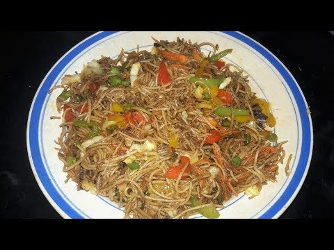 EASY VEG FRIED NOODLES RECIPE ( SPAGHETTI) || #CANDIDBERRY