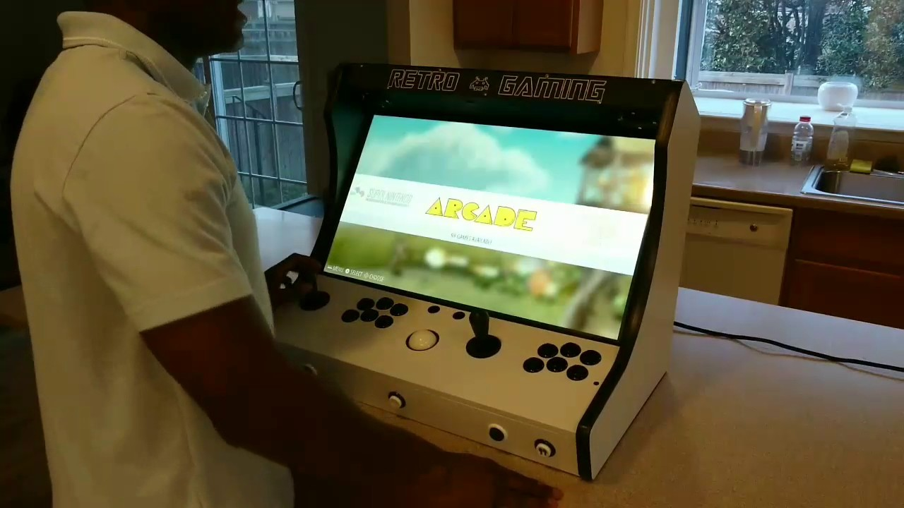 My personal Bartop Arcade with Trackball using RetroPie on a Raspberry Pi3