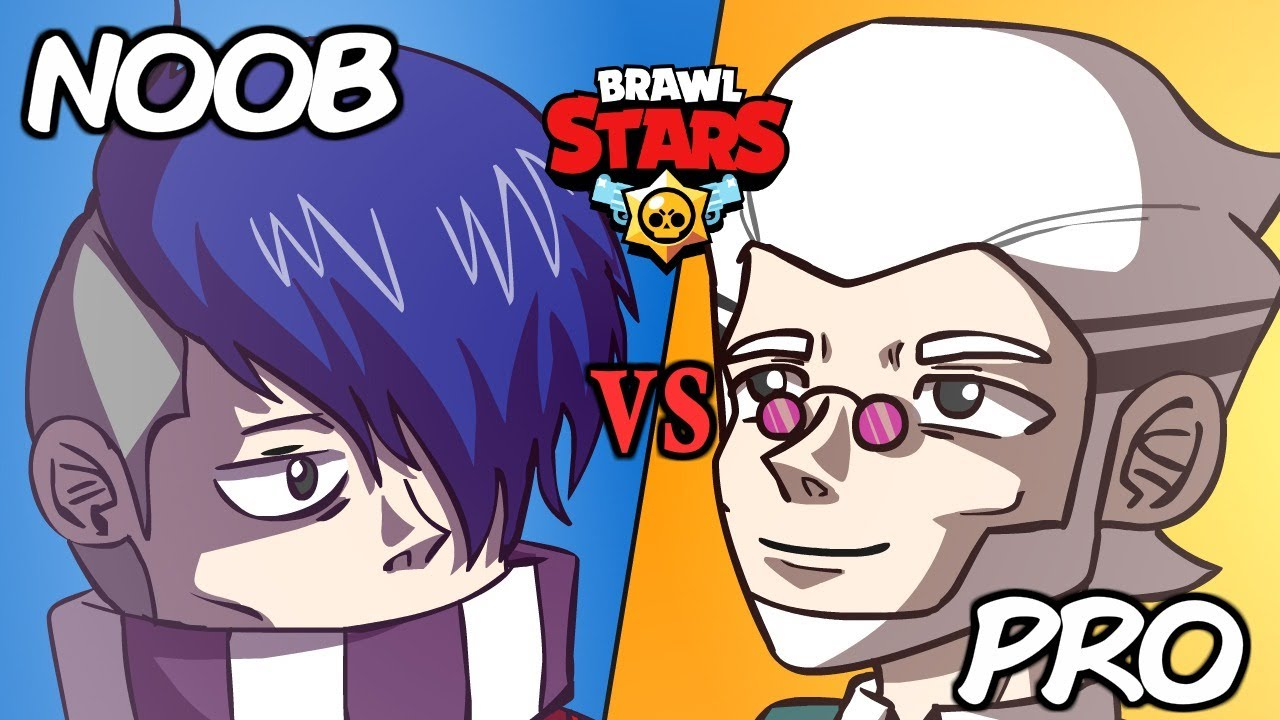 ⭐️ BYRON PRO VS EDGAR NOOB - BRAWL STARS ANIMATION