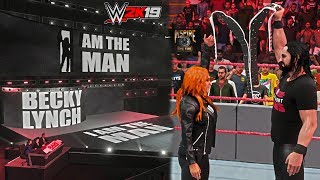 WWE 2K19: Becky Lynch New Entrance GFX ft. Seth Rollins (The Man Confronts The Man) - PC Mods