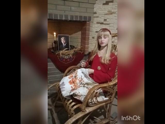 Изображение предпросмотра прочтения – ВарвараМогильникова читает произведение «Нивы сжаты, рощи голы…» С.А.Есенина
