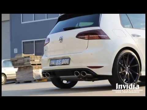 invidia q300 cat back volkswagen golf r performance exhaust system