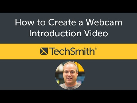 How To Create A Webcam Introduction Video