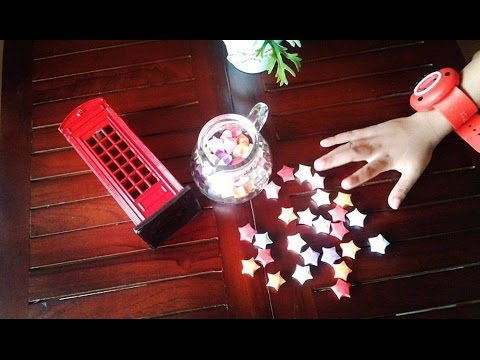 Tutorial membuat origami bintang step by step