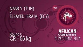 Round 5 GR - 66 kg: M. ELSAYED IBRA (EGY) df. S. NASR (TUN) by TF, 0-0