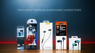 TOP 5 BEST EARPHONES Under 1000 rs 2020/Realme Buds 2,Mi Dual Driver,Sennheiser cx,Boat Bass,1More