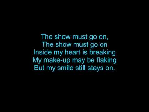 The show must go on Lyrics