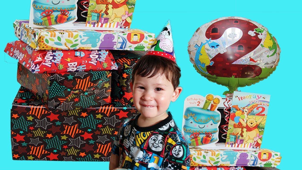 OPENING BIRTHDAY PRESENTS Lucas 2nd Birthday Best Presents Boy