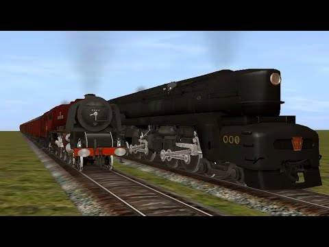Trainz Race: LMS Duchess vs PRR T1 |