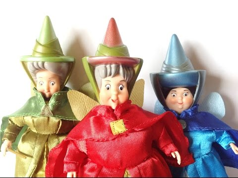 Disney Store Classic Doll Collection Sleeping Beauty Flora, Fauna and Merryweather 2012 review