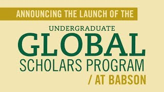 Babson President Kerry Healey Announces Global Scholars Program at Inauguration, October 18, 2013