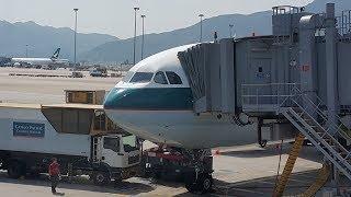 飛行記錄20160522舊影片翻新【曼谷→香港→高雄小港】國泰航空 CX-616 + 港龍航空 KA-436 空中巴士A330-300 商務艙