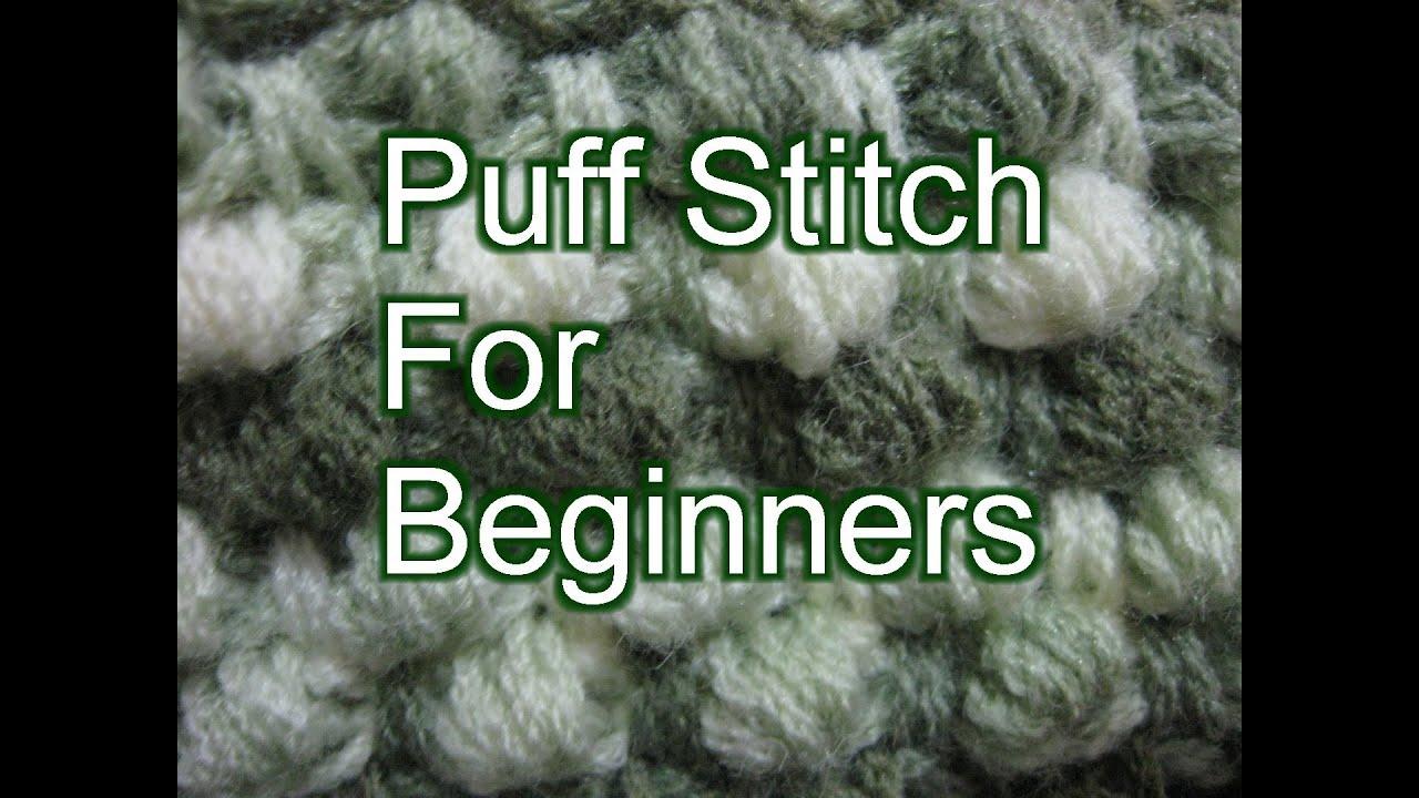 Crochet Puff Stitch  Slow Motion Crochet
