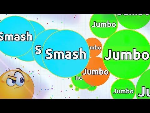 SMASH vs JUMBO?! SOLO AGARIO GAMEPLAY   Agar.io