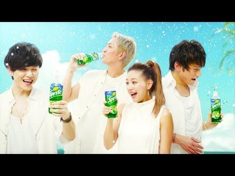 AAA、真っ白な衣装で爽快な表情披露 新TVCM「スプライト NEW すっきり爽快」篇