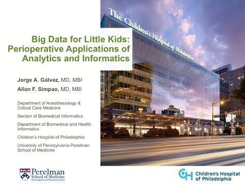 Big Data for Little Kids: Perioperative Applications of Analytics and Informatics