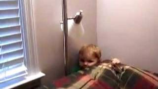Baby stuck behinde couch!