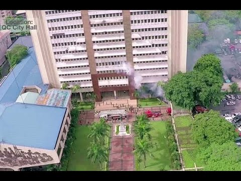 METRO MANILA SHAKE DRILL 2016: Quezon City Hall