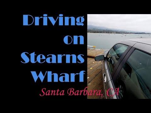 Driving on Stearns Wharf, Santa Barbara, CA
