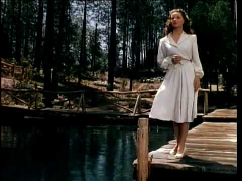 Jeanne Crain in concluding scene from Leave Her To Heaven