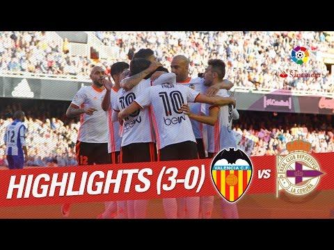 Resumen de Valencia CF vs Deportivo de la Coruña (3-0)