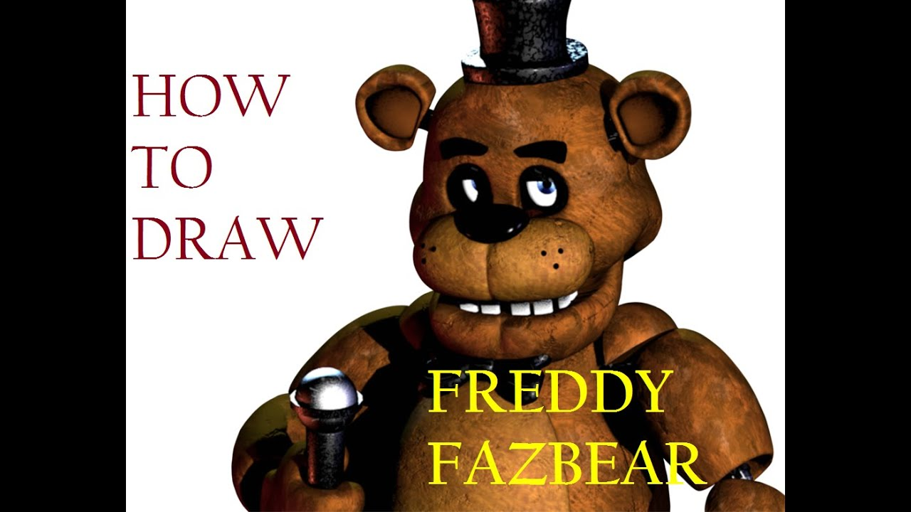 How to draw fnaf freddy steps - How To Draw Freddy Fazbear From Fnaf With Shadings Step By Step