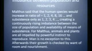 Mod-01 Lec-25 Population Theories