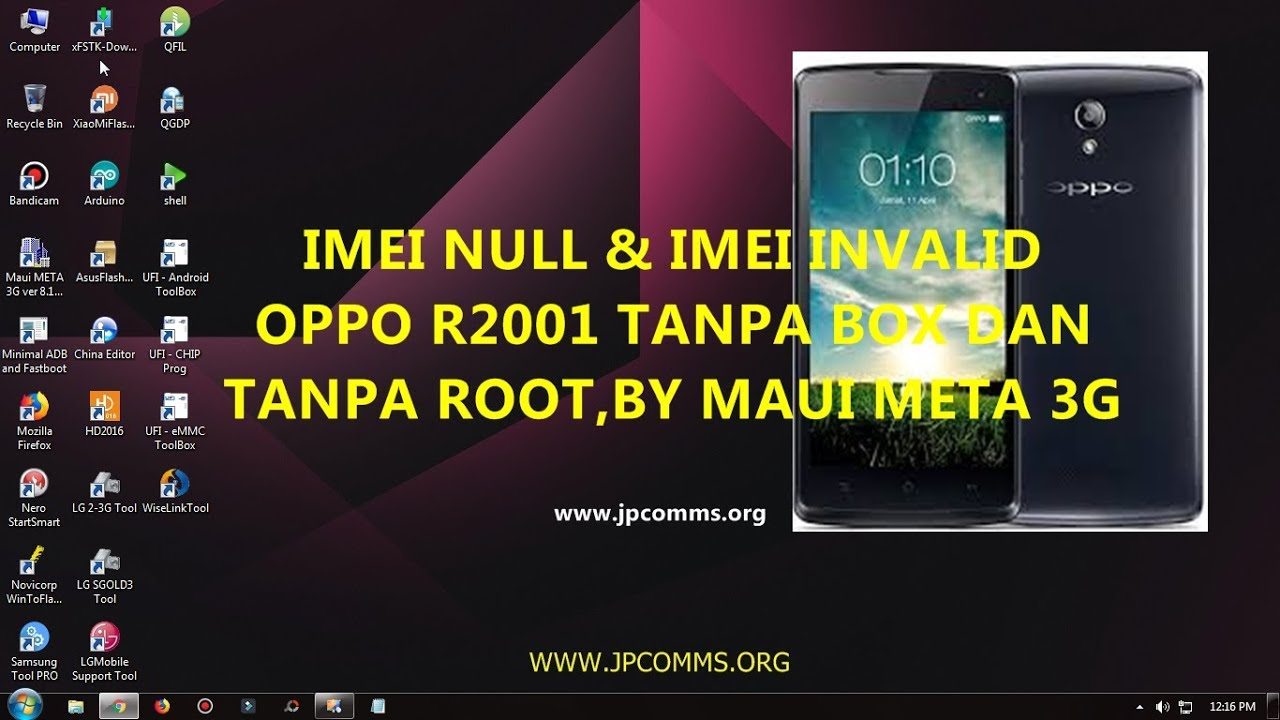 Oppo R2001 Imei Invalid & Imei Null Without Box & Root