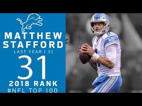 #31: Matthew Stafford (QB, Lions) | Top 100 Players of 2018 | NFL