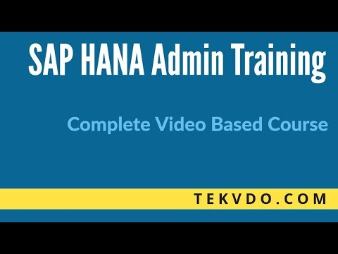 SAP HANA Admin Training - Step by Step SAP HANA Installation - Complete Course