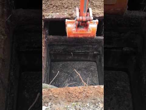 Septic tank drain out