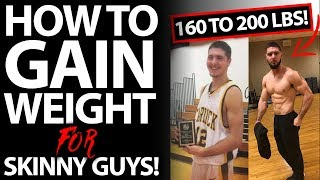 10 TIPS - How To Gain Weight FAST For Skinny Guys! (40 LBS OF MUSCLE!)