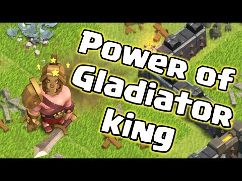 Power Of Gladiator King | Clash Of Clans | #ClashOn