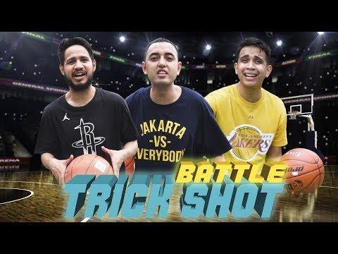 BASKETBALL TRICK SHOT Battle vs. Kemal Palevi