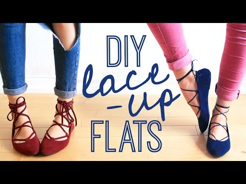 DIY LACE-UP FLATS | THE SORRY GIRLS