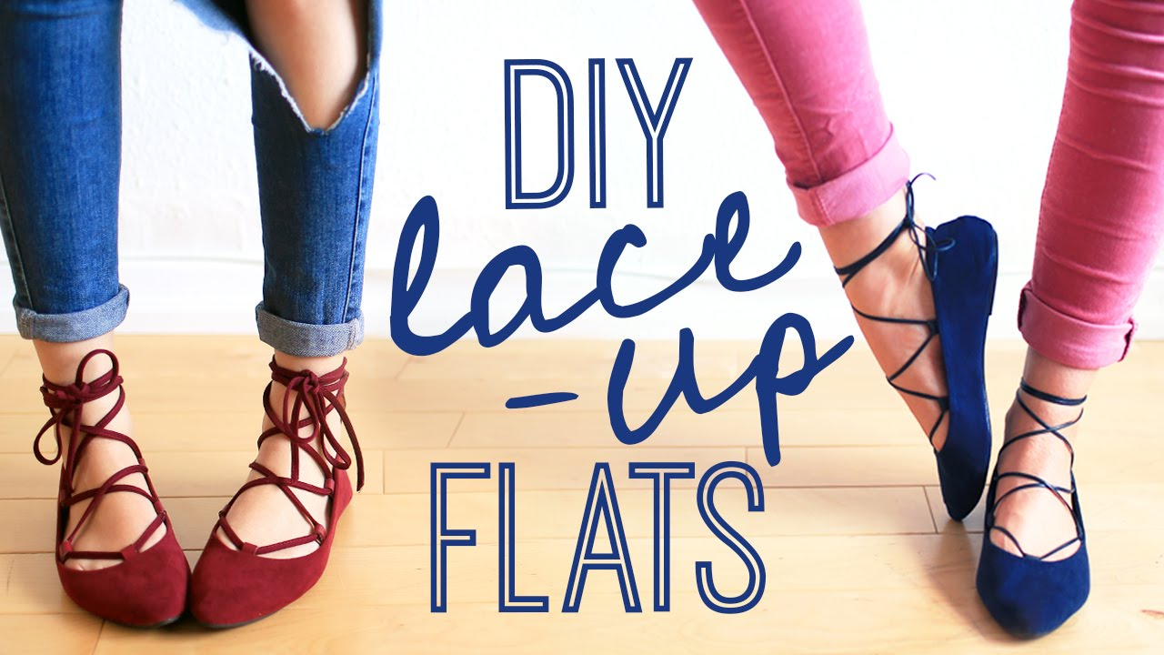 DIY LACE-UP FLATS   THE SORRY GIRLS