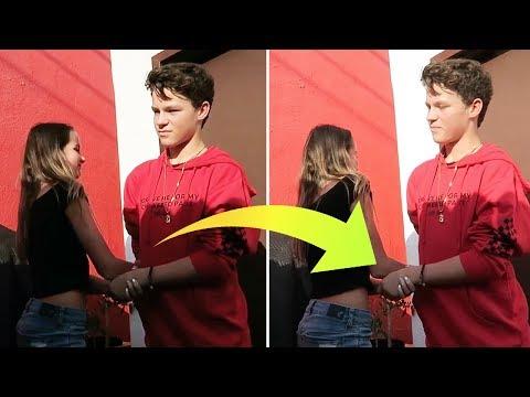 Annie LeBlanc & Hayden Summerall CAUGHT Holding Hands Backstage